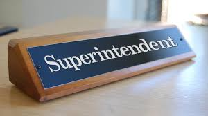 Superintendent name plate